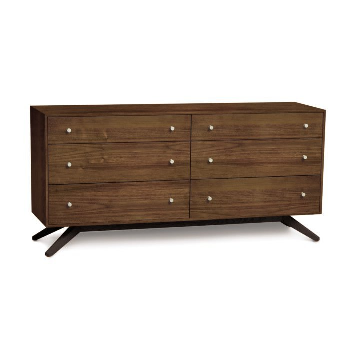 Astrid 6 Drawer Dresser Walnut