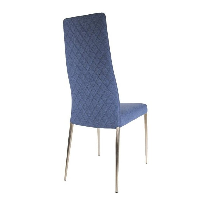 Diamond Chair - Blue Fabric Back
