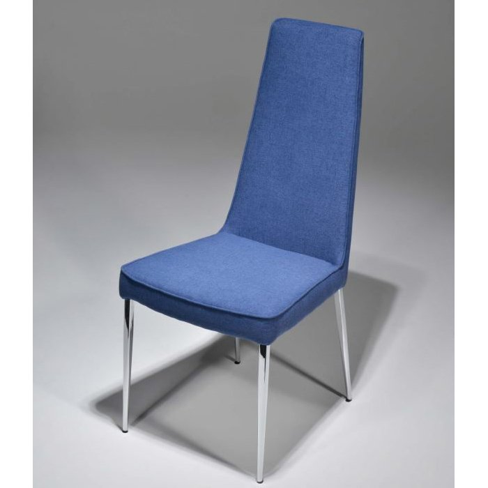 Diamond Chair Front Angle - Blue Fabric