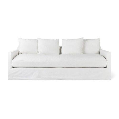 Carmel Sofa Washed Denim White by Gus Modern