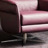 Stainless steel base Himolla AURA 8536 Recliner