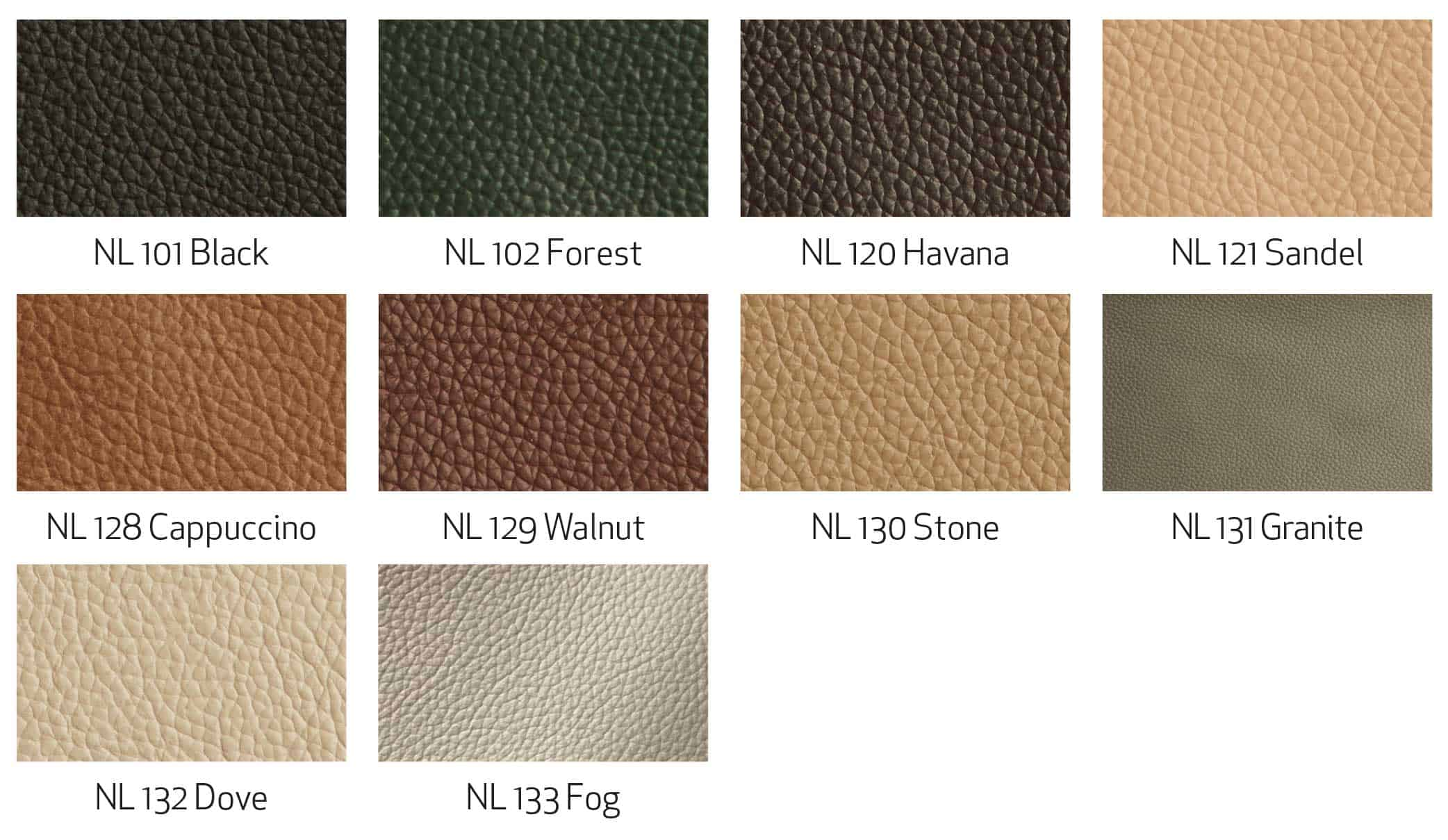 Fjords Leather Nordic Line Swatches