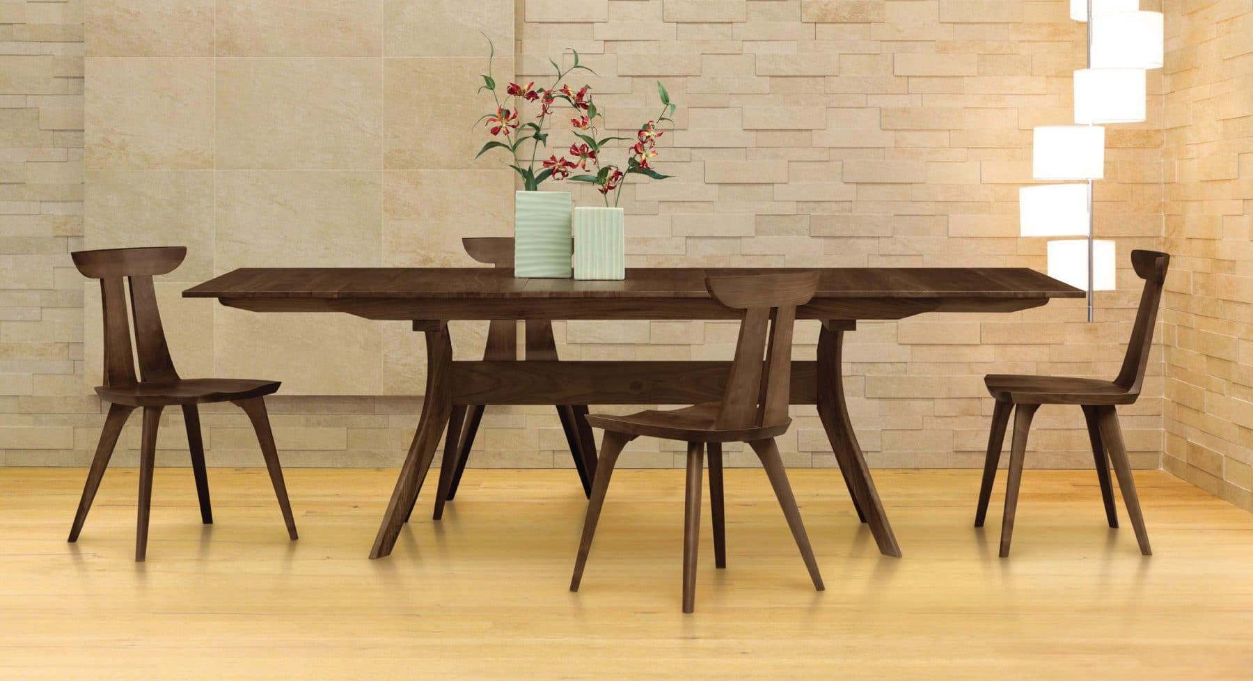 Audrey Extension Table and Estelle Chairs by Copeland