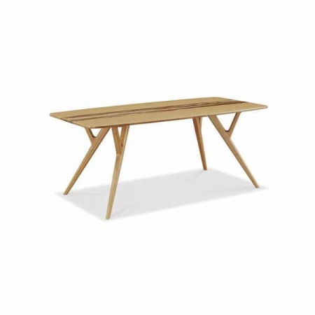 Solid Bamboo Wood Azara Collection Table in Carmelized Finish.