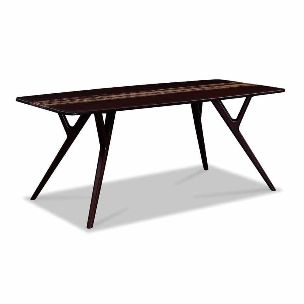Solid Bamboo Wood Azara Collection Table in Sable Finish.