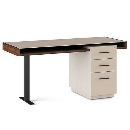 BDI Duo Pedestal Desk with Filing Cabinet