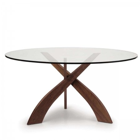 Entwine Round Glass Top Dining Table