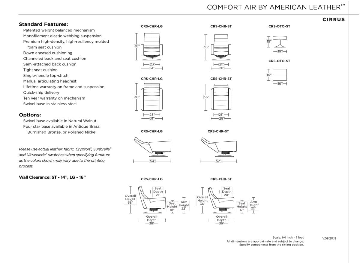 Cirrus Comfort Air by American Leather