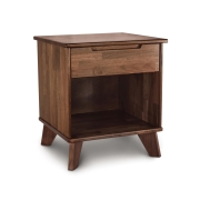 Linn Walnut 1 Drawer Enclosed Shelf Nightstand