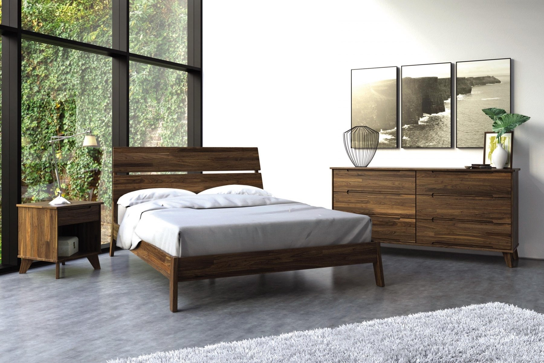 Linn Bedroom set in Walnut by Copeland