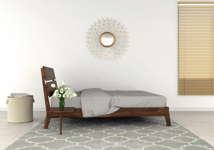 Linn bed frame by Copeland furniture side view