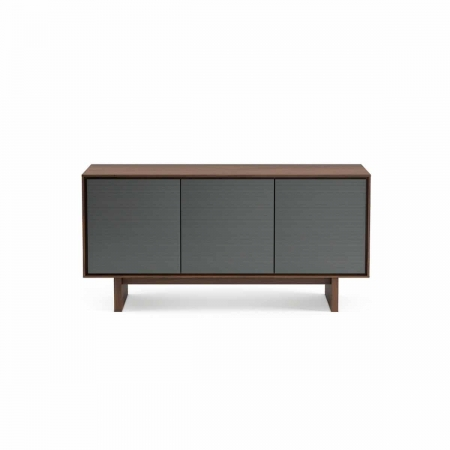 Octave 8377 BDI media console toasted walnut