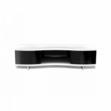 Ola 8137 2 BDI curved media cabinet white