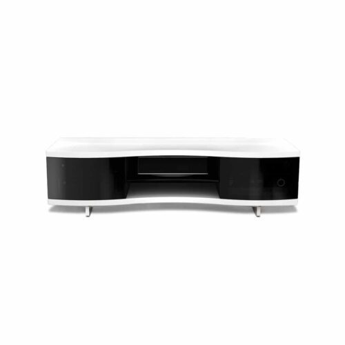 Ola 8137 2 BDI curved media cabinet white