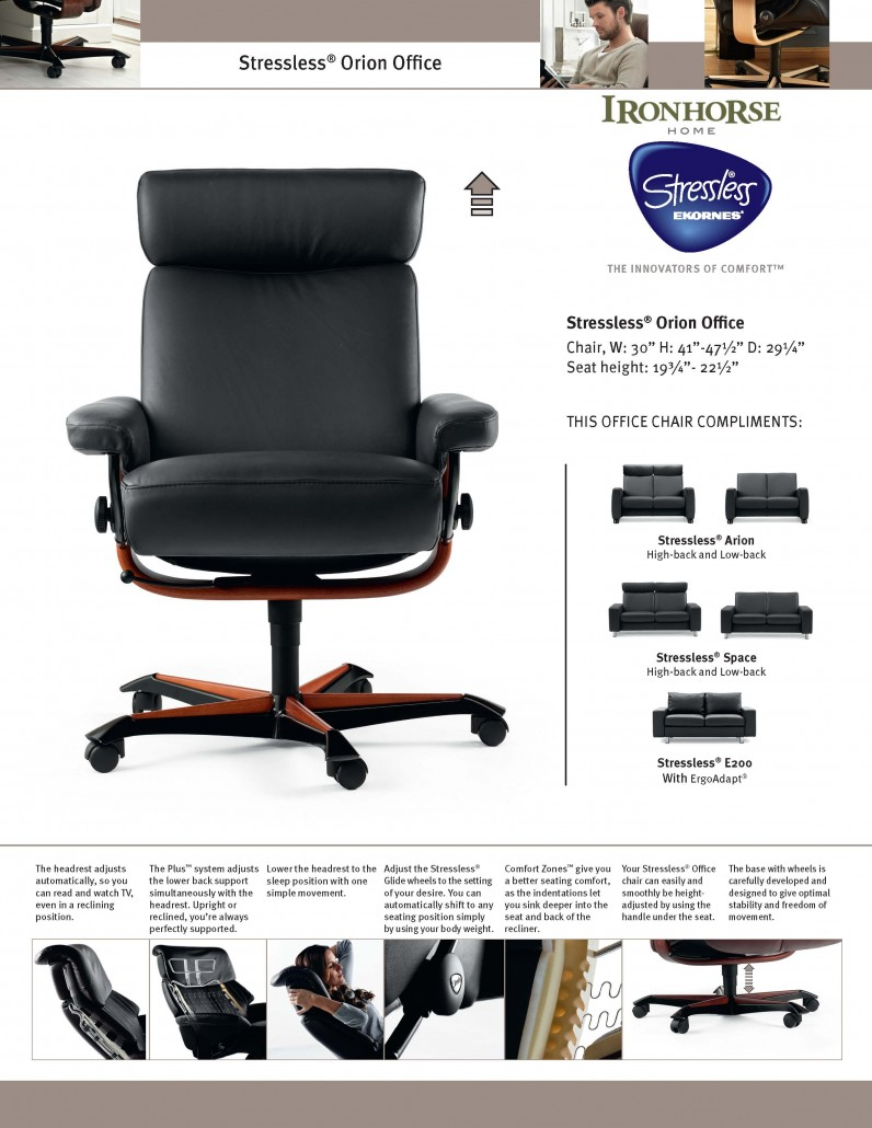 ironhorse home furnishings stressless office tear sheets. Black Bedroom Furniture Sets. Home Design Ideas