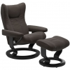 Stressless Wing Paloma Chestnut with Black Wood Classic Base