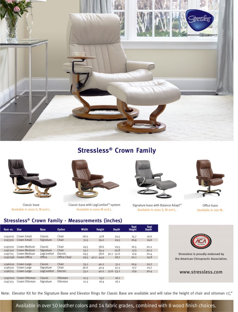 Stressless Crown Product Sheet 2017