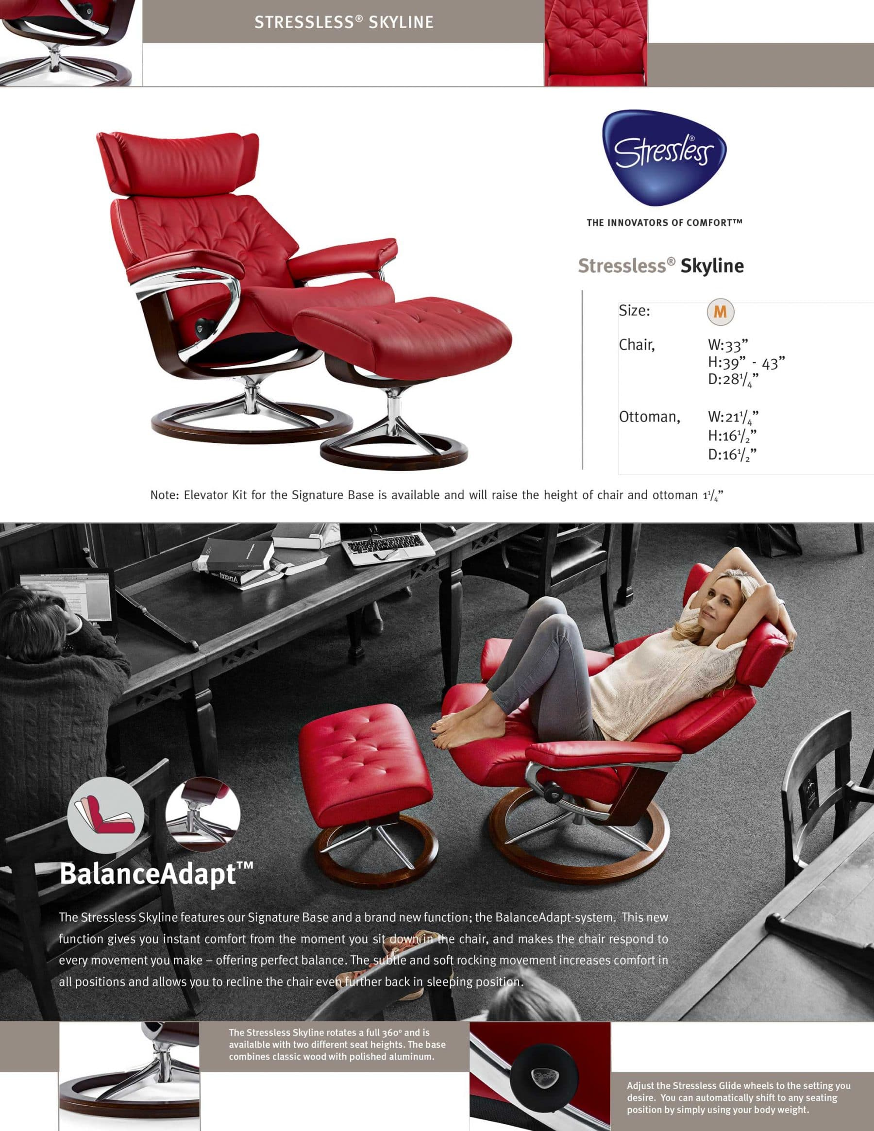 Stressless Skyline Product Sheet