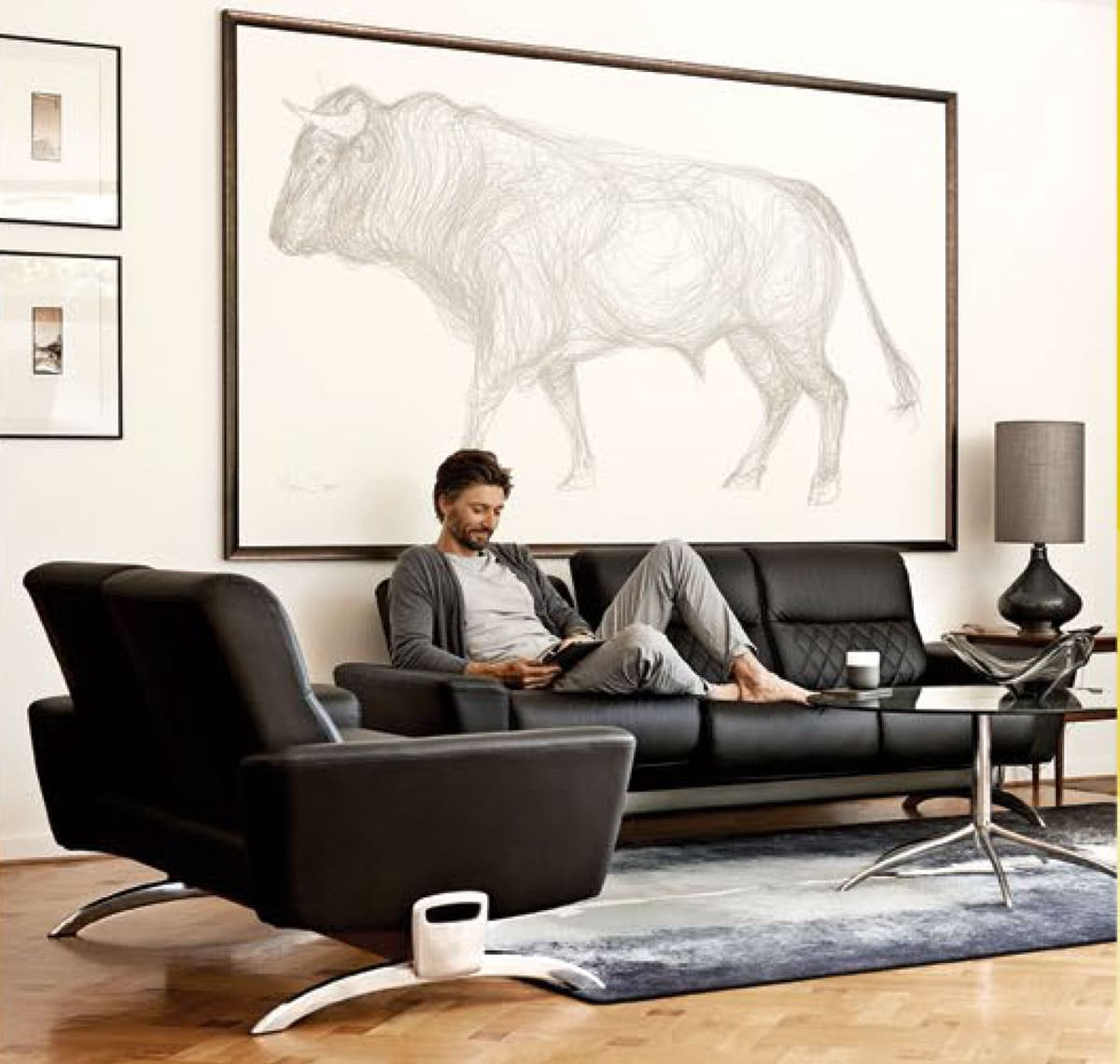 stressless you michelle sofa 2 ironhorse home furnishings. Black Bedroom Furniture Sets. Home Design Ideas