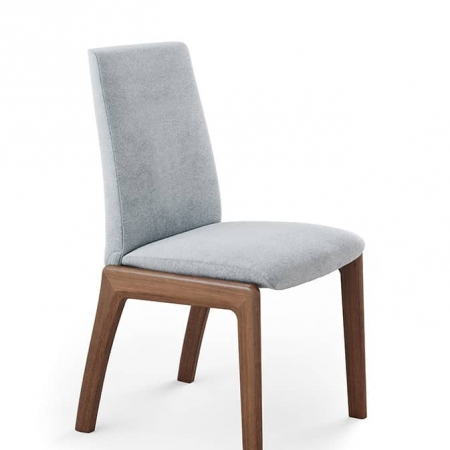 Stressless Laurel Dining Chair Low Karma Light Grey Walnut