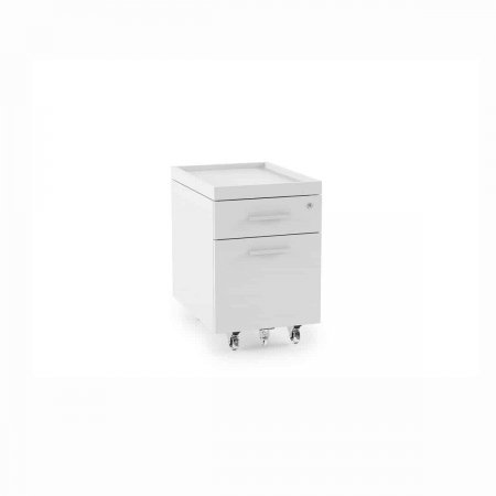 centro office 6407 BDI mobile file pedestal white