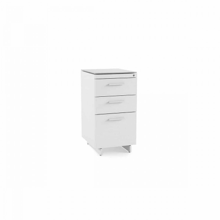 centro office 6414 BDI 3 drawer file cabinet white 1