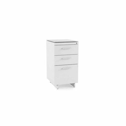 centro office 6414 BDI 3 drawer file cabinet white 1