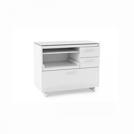 centro office 6417 BDI multifunction cabinet white 1