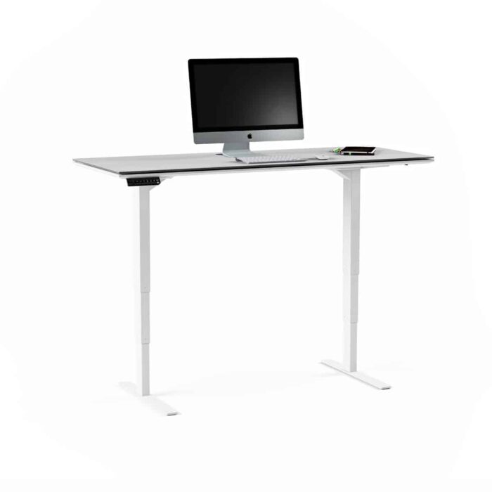 centro office 6451 BDI height adjustable standing desk white