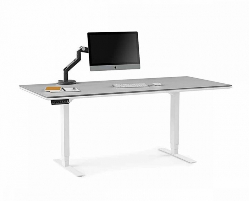 centro office 6452 BDI height adjustable standing desk white 7