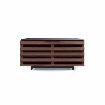 corridor 8175 BDI corner media cabinet chocolate walnut