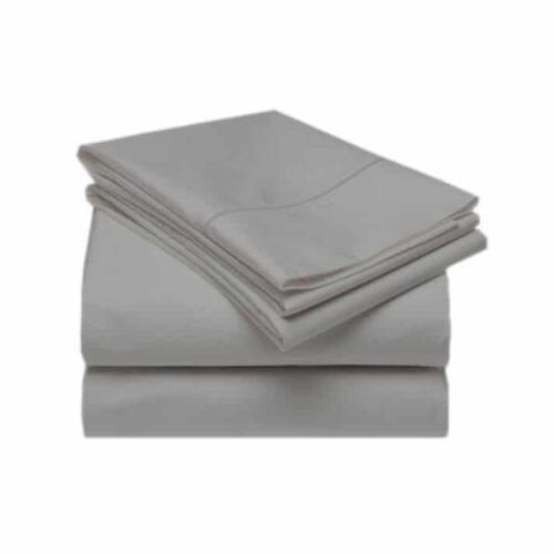 tencel bed sheet set in dove grey
